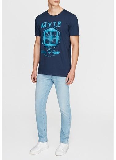 Mavi Baskılı Tişört Mavi